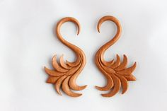 3mm Wood Stretch Plug  3 mm carve wood ear by TwoFeatherConnection