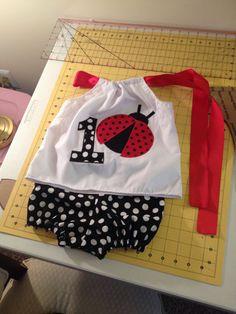 Lady+bug+birthday+outfit+pillowcase+top+polka+by+SewSweetByTrisha,+$23.00