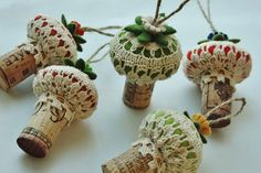 More ornaments... by woolly  fabulous...Love it!