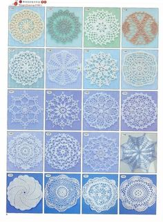 from Crochet motif and edging Crochet Motif Patterns, Crochet Blocks, Tatting Patterns, Crochet Squares, Crochet Granny, Stitch Patterns, Crochet Cross, Thread Crochet, Knit Crochet