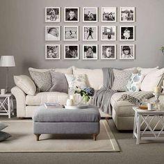 Soggiorno classico color tortora - Come arredare il soggiorno con il color tortora e i mobili bianchi.