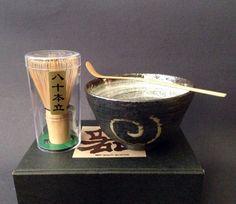 Amazon.com: Japanese Tea Ceremony Matcha Bowl Scoop Whisk Gift Box Set Naruto Design: Kitchen & Dining