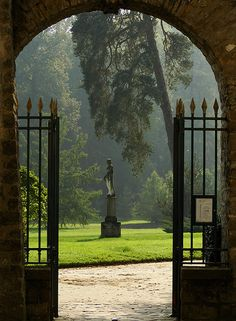 The English garden at Fontainebleau.