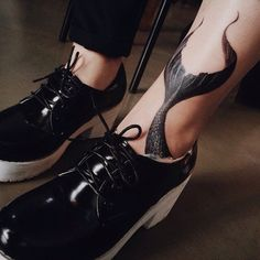 Tattoo and shoes both so good