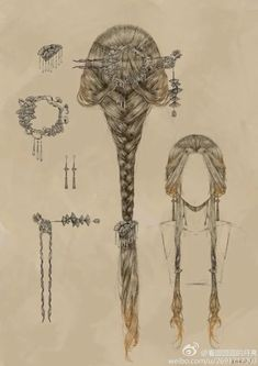 Romantic Hairstyles, Cool Hairstyles, Fashion Hairstyles, Fantasy Hairstyles, Medieval Hairstyles, Fairy Hairstyles, Drawing Hairstyles, Victorian Hairstyles, Formal Hairstyles