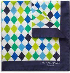 Richard JamesHarlequin Silk Pocket Square|MR PORTER