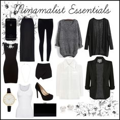 Minamalist Essentials by big-red97 on Polyvore featuring polyvore fashion style Moschino Chloé American Vintage Forever New River Island Jessica Simpson Charlotte Olympia Mikimoto ASOS Jeweliq
