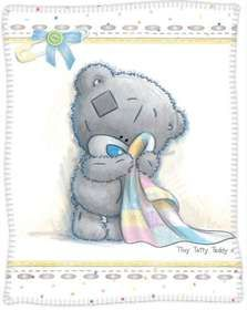 Polar Fleece Throw (Printed) - Tiny Tatty Teddy
