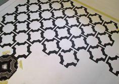 stenciled vinyl floors