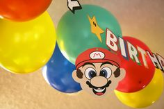 Mario Brothers Party Printables