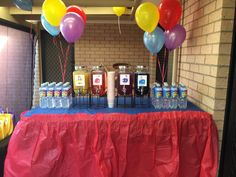 Why not create a drink station with tasty drinks in the 4 Wiggles colours? Birthday Party Drinks, Birthday Treats, 2nd Birthday Parties, Wiggles Birthday, Wiggles Party, Wiggles Cake, The Wiggles, Emoji, Childrens Party