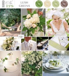 Wedding Inspiration Board Lush Greens No178