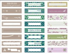 Etiquette Thermocollante, Free Downloads, Project Life, Party Printables, Scrapbooking, Tags, Craft, Paper, Filing Cabinet
