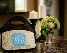 Monogrammed lunch bags insulated -  Design your own Lunch tote with your favorite pattern, colors/ Custom lunch tote / Insulated lunch tote