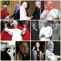 Catholic Popes and priests showing Masonic Illuminati hand signs - Collection from the Internet. Courtesy of the multiple bloggers. Thank you.