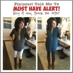 Pinterest Told Me To: First MUST HAVE of 2016! This tunic is great for jeans, dress pants, and leggings....and it's ON SALE FOR ONLY $25.40!!!!