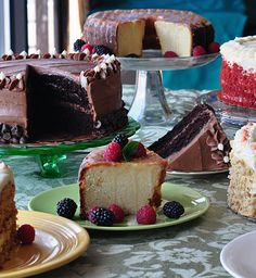 Just a few of our delicious cakes.  Yum