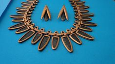 Stunning MATISSE Copper NECKLACE EARRINGS by CopperJewelryMoreJag