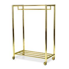 Brass Clothes Rack | via Bijou and Boheme