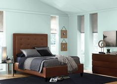 This is the project I created on Behr.com. I used these colours: RIO SKY(M440-1),