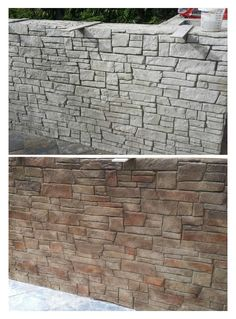 Backyard Projects, Backyard Patio, Backyard Landscaping, Concrete Retaining Walls, Concrete Wall, Concrete Patio, Beton Design, Concrete Design, Terraced Patio Ideas