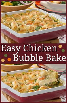 "Here's a cool way to make chicken pot pie for your family, and it only takes 30 minutes! It's a casserole that really ""rises"" to the occasion."