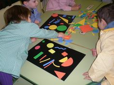 Composicions amb formes geomètriques Kandinsky, Activities For Kids, Crafts For Kids, Arts And Crafts, Joan Miro, Lessons For Kids, In Kindergarten, Creative Art, Art Projects