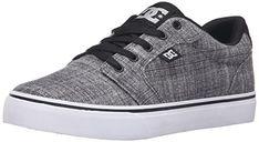 DC Men's Anvil TX SE Skateboarding Shoe, Grey Heather,