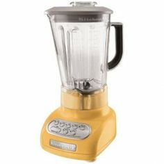 Yellow kitchen aid blender