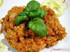 Bulgur lecsó Fried Rice, Quinoa, Grains, Food And Drink, Cooking Recipes, Salad, Ethnic Recipes, Diet, Bulgur
