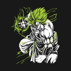 Awesome 'SUPER+SAIYAN+BROLY+-+TS00008' design on TeePublic!