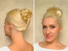 Easy work hairstyles for medium long hair Cute quick curly updo for work French twist tutorial 2011