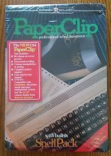 Vintage Batteries Included PaperClip Professional Word Processor Commodore 64