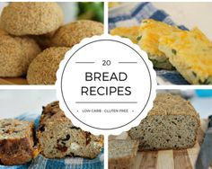 Here are 20 low carb bread recipes that are a healthier alternative to bread. All recipes are also gluten free too. Enjoy a healthier slice of bread!