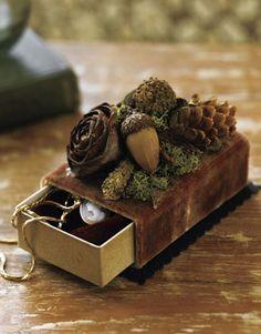 Beautiful acorn adorned box