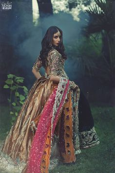 Buy amazing Traditional colour combinations of luxurious Lehenga Choli… Muslim Wedding Dresses, Pakistani Bridal Dresses, Indian Wedding Outfits, Bridal Outfits, Bridal Lehenga, Indian Dresses, Indian Outfits, Punjabi Wedding, Desi Wedding