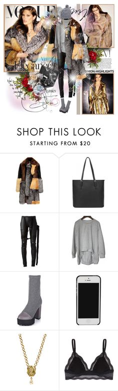 """""""Catherine McNeil for Vogue Spain 2015"""" by merrygorounds ❤ liked on Polyvore featuring Nearly Natural, Bally, Rick Owens, Dolce&Gabbana, Markus Lupfer, beanies, fur, polyvoreeditorial and lucluc"""