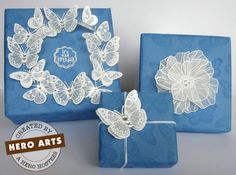 Amazing use of vellum and heat embossing. So beautifully calming.