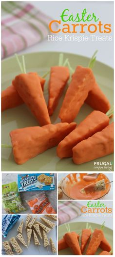 EASTER CARROTS RICE KRISPIES TREATS
