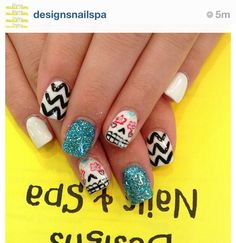 Nails  -day of the dead
