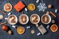 Christmas Flatlay, Christmas Cup, Black Backgrounds, Coffee Cups, Numbers, Food, Coffee Mugs, Essen, Coffee Cup