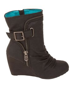 Black Relax Iberia Wedge Boot by Blowfish Malibu on #zulily