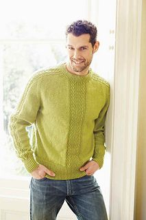 Ravelry: Spring Greens pattern by Shirley Bradford Mens Knit Sweater, Hand Knitted Sweaters, Jumper Designs, Womans Weekly, Bodybuilding Clothing, Jumper Knitting Pattern, Mens Jumpers, Casual Winter Outfits, Ravelry