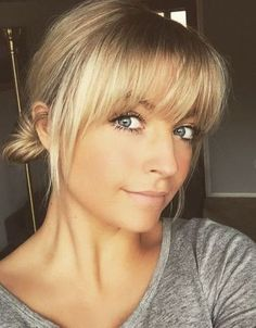 Blonde Fringe with Bun for Thin Hair