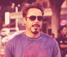 Robert Downey Jr. and his Explorers Club t-shirt.