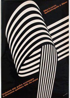 Grignani, manifesto per Alfieri & Lacroix 1964 Op Art Op Art, Graphic Design Typography, Graphic Design Illustration, Graphic Art, Graphic Posters, Design Illustrations, Design Posters, Vintage Illustrations, Illustrations Posters