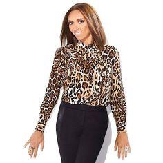 Giuliana Rancic Leopard Blouse 120