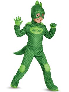 Check out PJ Masks Deluxe Gekko Toddler Costume from Costume Discounters