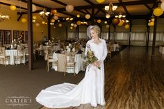 A gorgeous bride, but that room looks amazing as well! Photo by Carter's Photography.