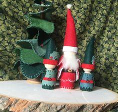 Santa and His Elves Peg Gnomes For Waldorf door WillowHollowHandmade